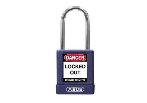 Aluminum safety padlock with purple  cover 74BS/40 LILA