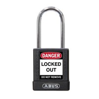 Aluminum safety padlock with black cover 77575