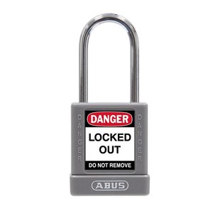 Abus Aluminum safety padlock with grey cover 74BS/40 GRAU