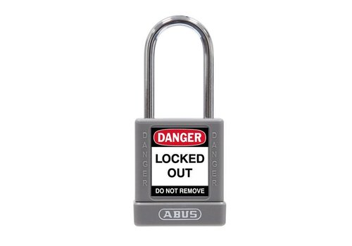 Aluminum safety padlock with grey cover 74BS/40 grey
