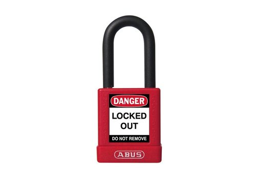 Aluminum safety padlock with red cover 74/40 red