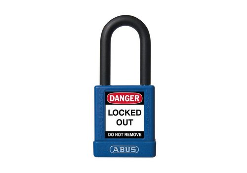 Aluminum safety padlock with blue cover 74/40 blue