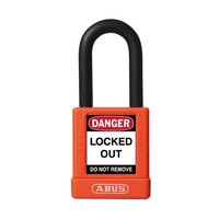 Aluminum safety padlock with orange cover 59113
