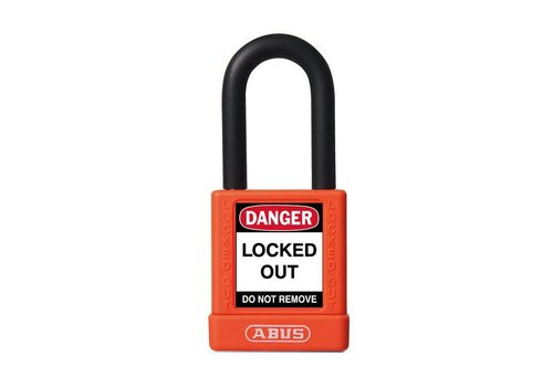 Aluminum safety padlock with orange cover 74/40 oange