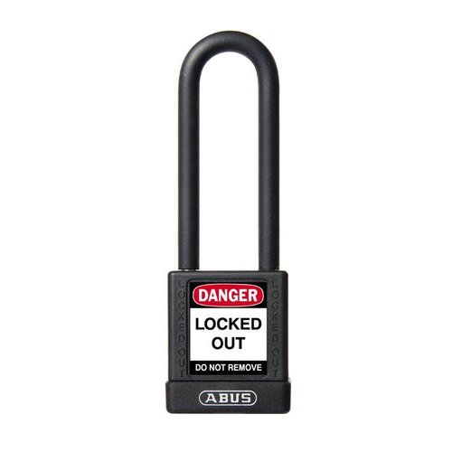 Aluminum safety padlock with black cover 74/40HB75 zwart