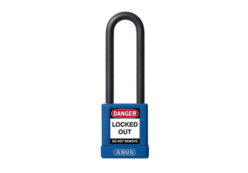 Aluminum safety padlock with blue cover 74/40HB75 blue