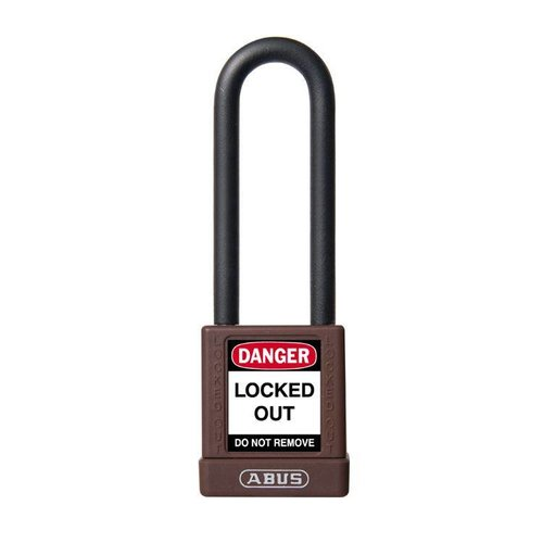 Aluminum safety padlock with brown cover 74/40HB75 BRAUN