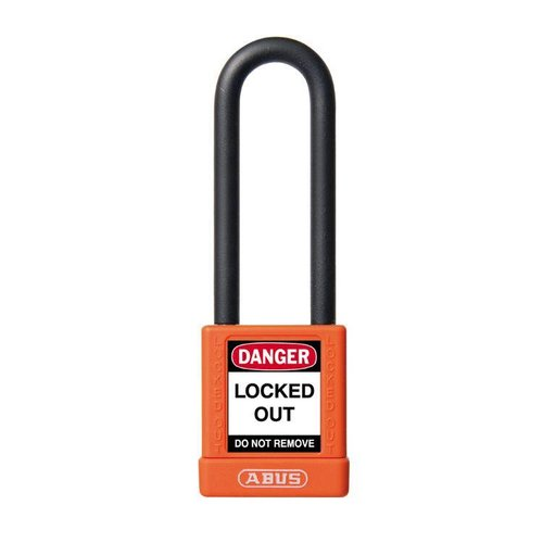 Aluminum safety padlock with orange cover 74/40HB75 orange