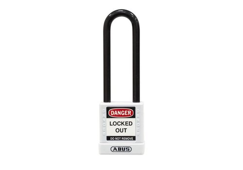 Aluminum safety padlock with white cover 74/40HB75 white