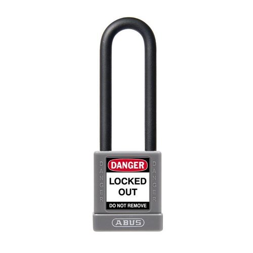 Aluminum safety padlock with grey cover 74/40HB75 grey