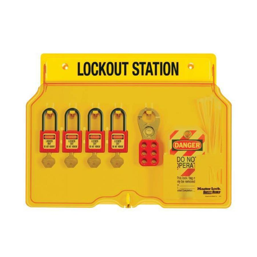 Lock-out station 1482BP406 keyed different / keyed alike