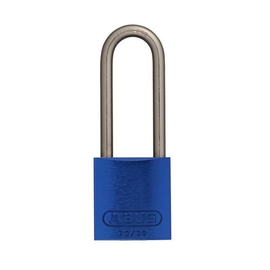 Anodized aluminium safety padlock blue 72IB/30HB50 BLAU