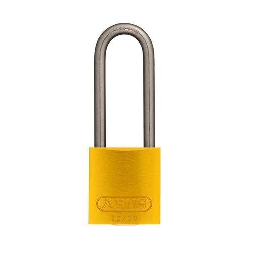 Anodized aluminium safety padlock yellow 72IB/30HB50 GELB