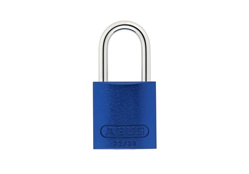Anodized aluminium safety padlock blue 72/30 BLAU