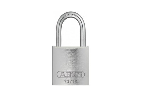 Anodized aluminium safety padlock grey 72IB/30 GRAU