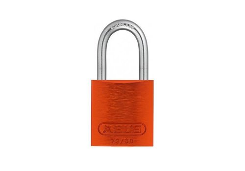 Anodized aluminium safety padlock orange 72IB/30 ORANGE