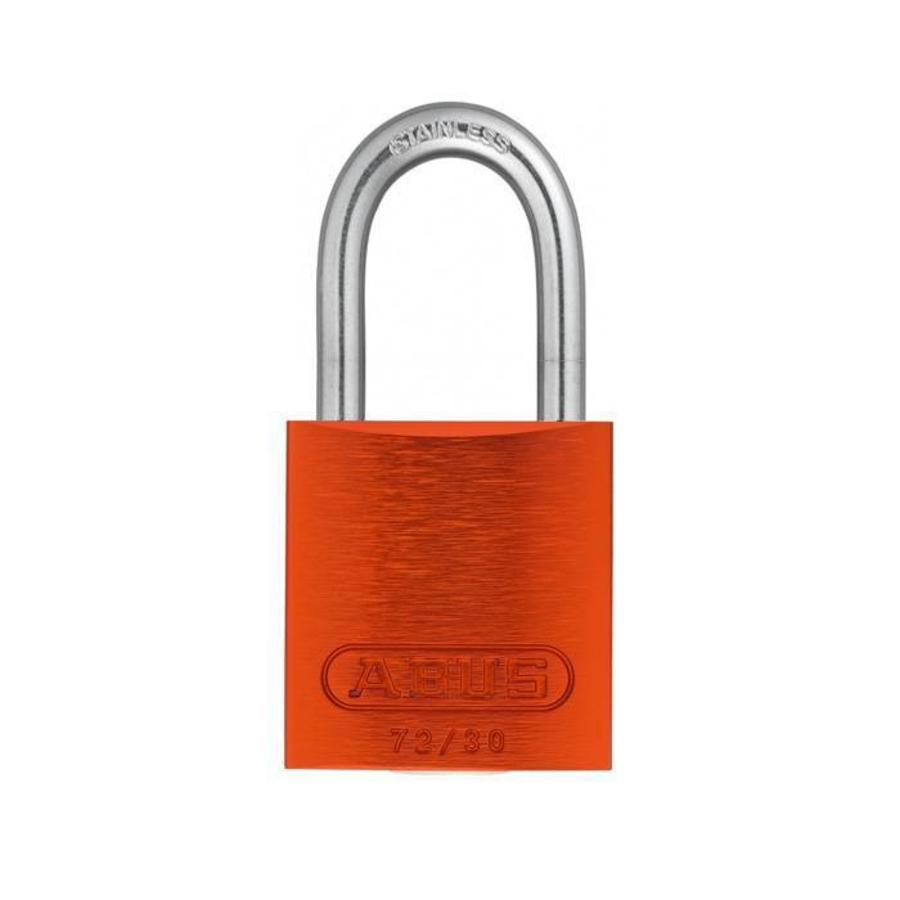 Anodized aluminium safety padlock orange 72IB/30 ORANGE