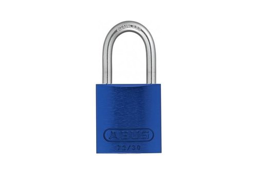 Anodized aluminium safety padlock blue 72IB/30 BLAU
