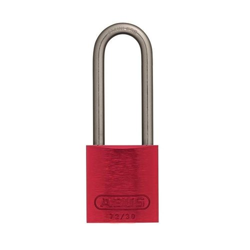 Anodized aluminium safety padlock red 72IB/30HB50 ROT