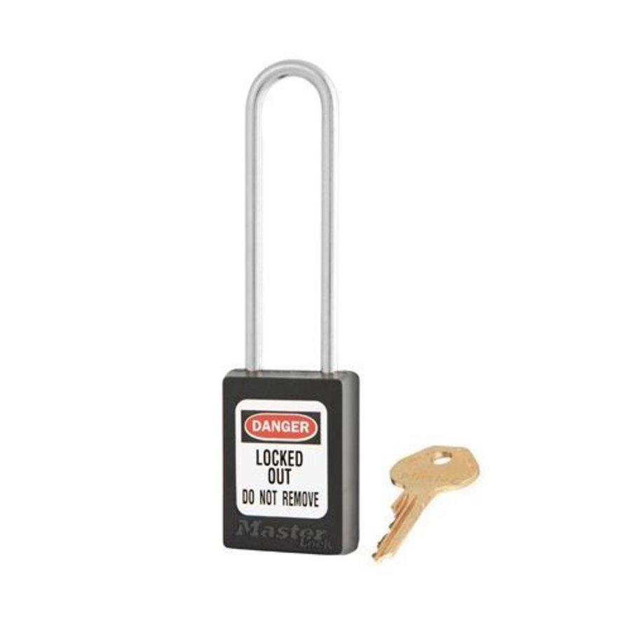 Zenex safety padlock black S33LTBLK - S33LTKABLK