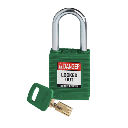 SafeKey nylon safety padlock green 150368