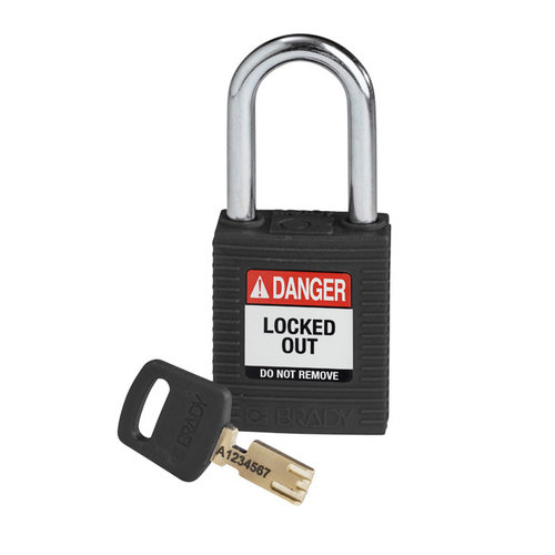 SafeKey nylon safety padlock black 150234