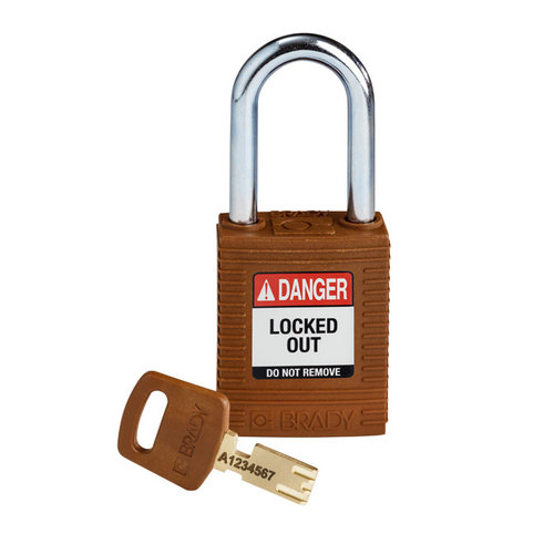 SafeKey nylon safety padlock brown 150275