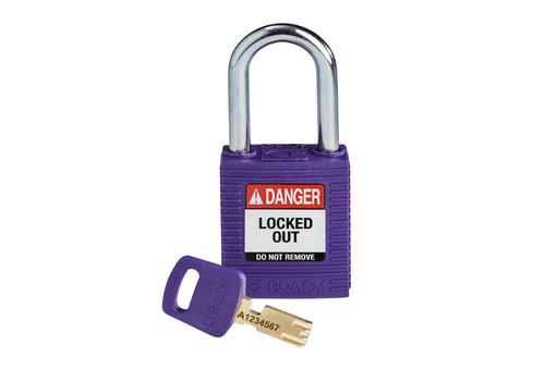 SafeKey nylon safety padlock red purple 150250