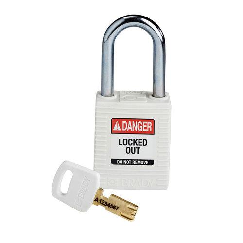 SafeKey nylon safety padlock red white 150367