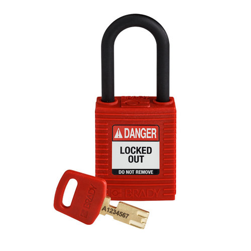 SafeKey nylon safety padlock red 150342