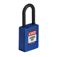 SafeKey nylon safety padlock blue 150366 / 150221