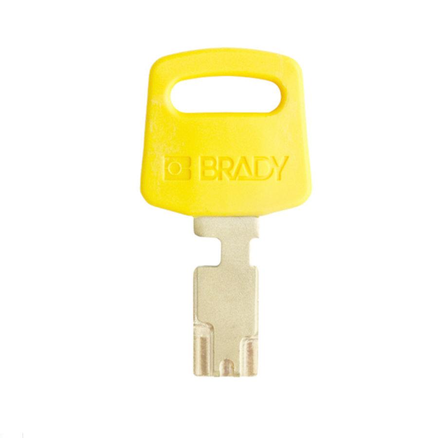 SafeKey nylon safety padlock yellow 150232 / 150265