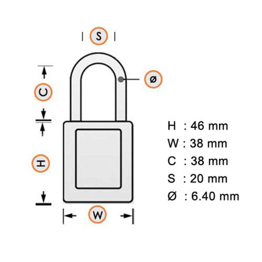 SafeKey nylon safety padlock orange 150230 / 150310
