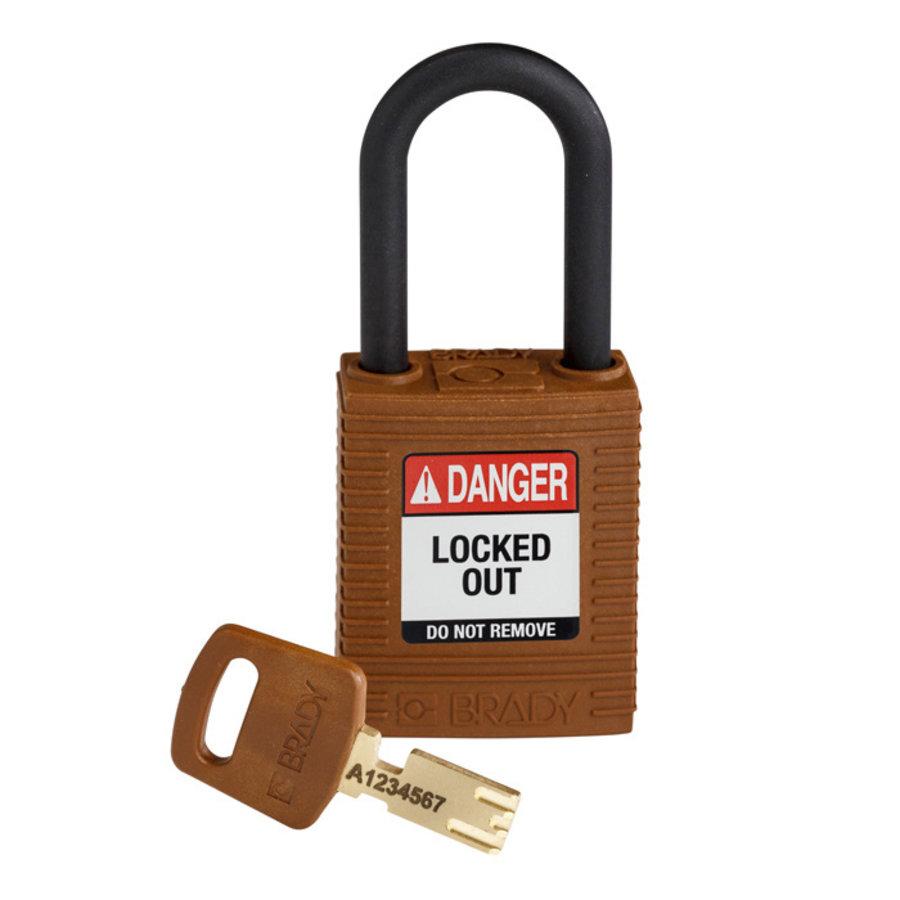SafeKey nylon safety padlock black brown 150318 /  150309