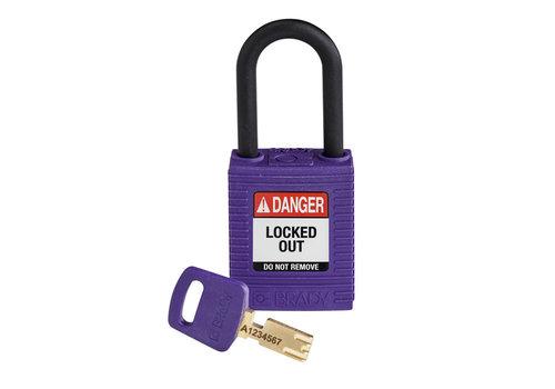 SafeKey nylon safety padlock purple 150272