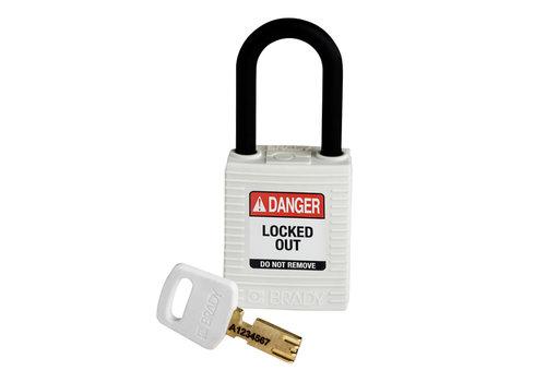 SafeKey nylon safety padlock white 150365