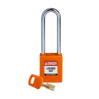 SafeKey nylon safety padlock orange 150248