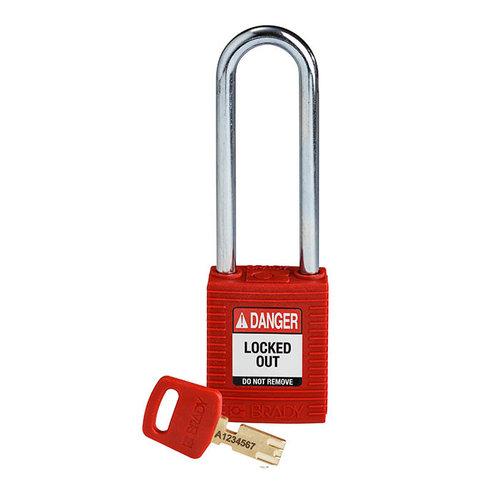 SafeKey nylon safety padlock red 150357
