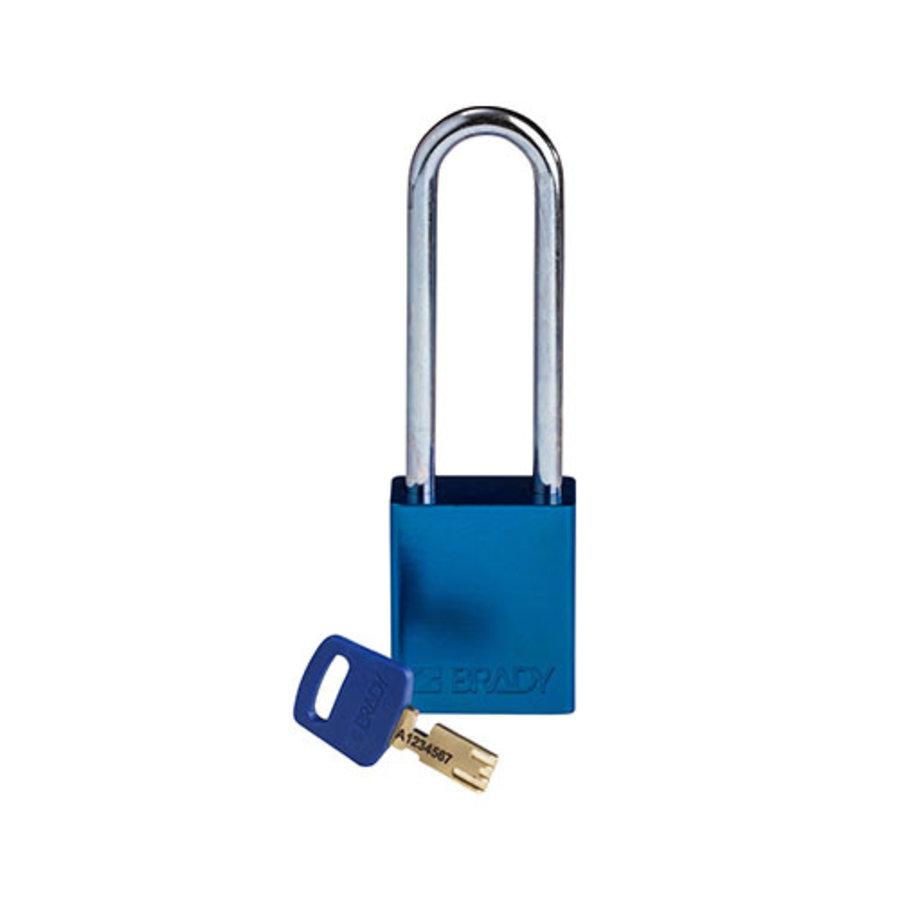 SafeKey Aluminium safety padlock blue 150241