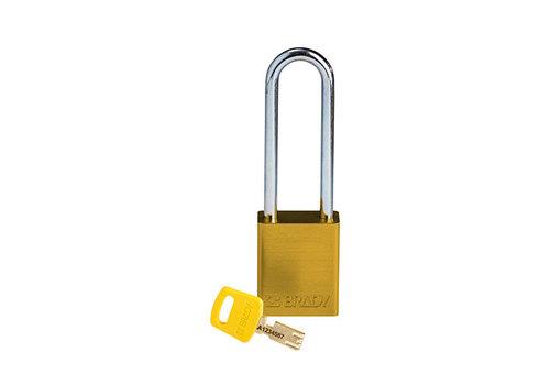 SafeKey Aluminium safety padlock Yellow 150285