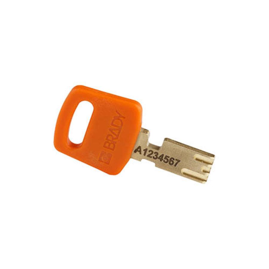 SafeKey Aluminium safety padlock Orange 150306