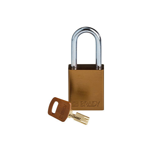 SafeKey Aluminium safety padlock brown 150286