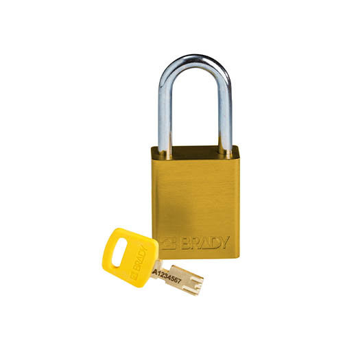 SafeKey Aluminium safety padlock Yellow  150288
