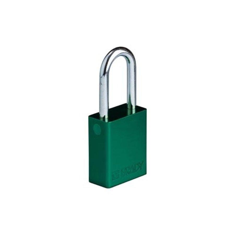 SafeKey Aluminium safety padlock green 150264