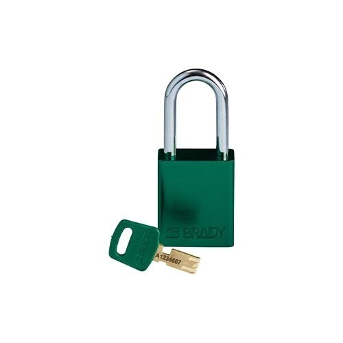 SafeKey Aluminium safety padlock green 150264