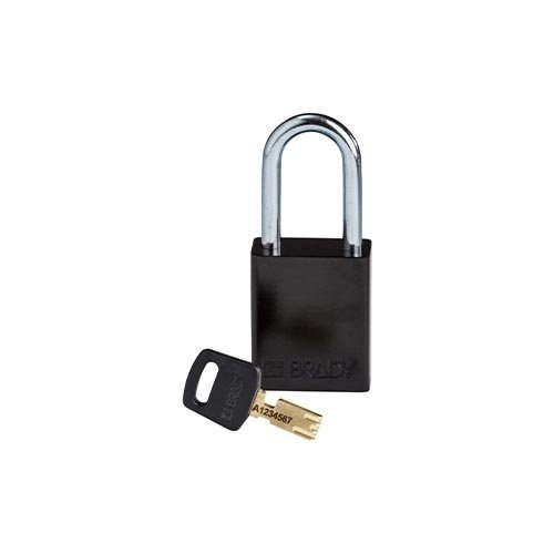 SafeKey Aluminium safety padlock Black 150243