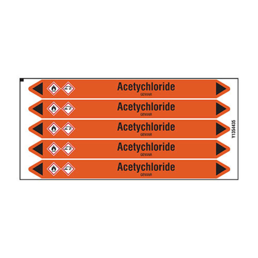 Pipe markers: Acetychloride | Dutch | Acids