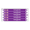 Brady Pipe markers: Acetychloride | Dutch | Acids and Alkalis