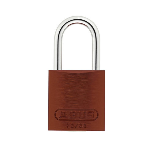 Anodized aluminium safety padlock brown 72/30 BRAUN