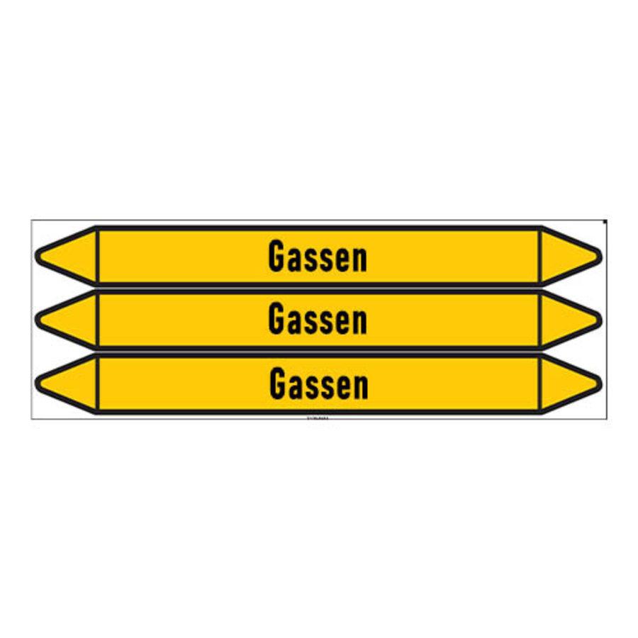 Pipe markers: Aanvoer | Dutch | Gas